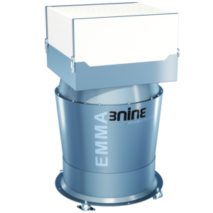 The oil mist eliminator Emma is the big sister in the 3nine BLUE LINE Series and was designed specifically for applications where a high air flow is essential, such as very large cabin or open machine tools.