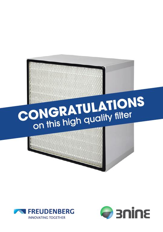 HEPA filter for 3nine oil mist eliminator